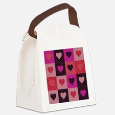 Hearts Quilt Canvas Lunch Bag