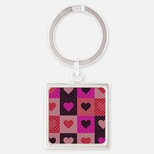 Hearts Quilt Keychains