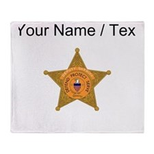 Deputy Sheriff Badge (Custom) Throw Blanket