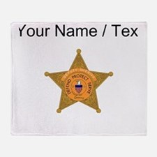 Deputy Sheriff Badge (Custom) Throw Blanket