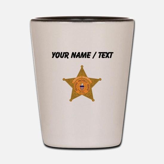 Deputy Sheriff Badge (Custom) Shot Glass