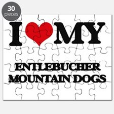 I love my Entlebucher Mountain Dogs Puzzle
