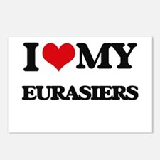 I love my Eurasiers Postcards (Package of 8)