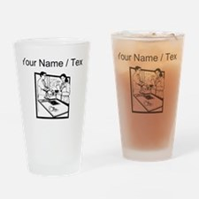 Grocery Clerk (Custom) Drinking Glass