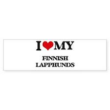 I love my Finnish Lapphunds Bumper Bumper Sticker