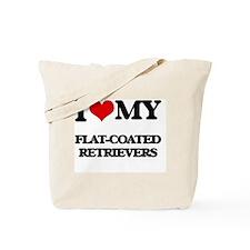 I love my Flat-Coated Retrievers Tote Bag