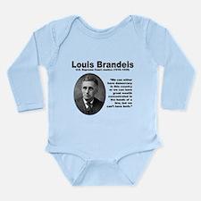Brandeis Inequality Long Sleeve Infant Bodysuit