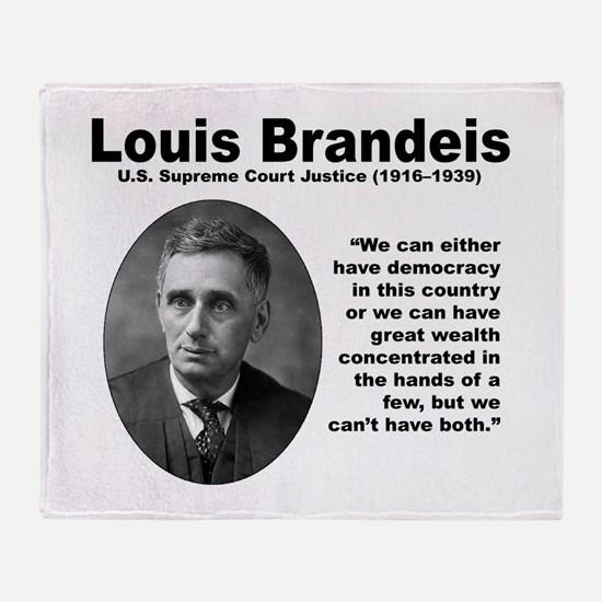 Brandeis Inequality Throw Blanket
