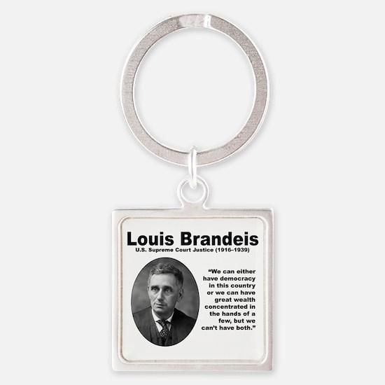 Brandeis Inequality Square Keychain