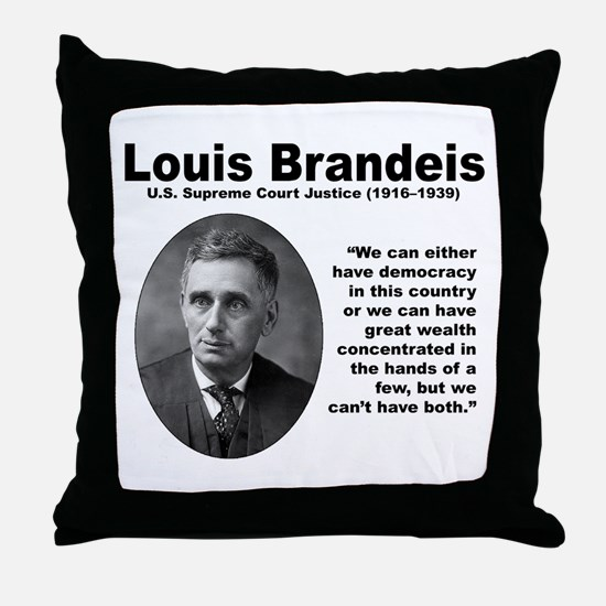 Brandeis Inequality Throw Pillow