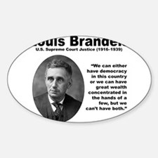 Brandeis Inequality Sticker (Oval)