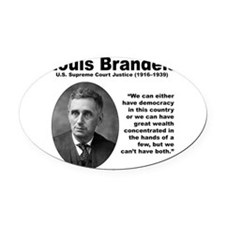 Brandeis Inequality Oval Car Magnet