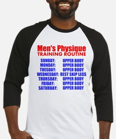 Mens Physique Training Routine Baseball Jersey