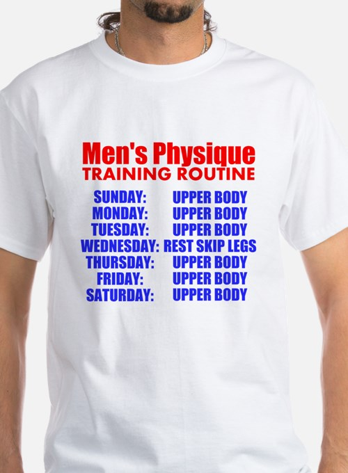 Mens Physique Training Routine T-Shirt