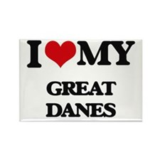 I love my Great Danes Magnets