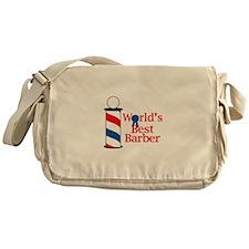 WORLDS BEST BARBER Messenger Bag