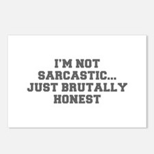 I M NOT SARCASTIC JUST BRUTALLY HONEST-Fre gray Po