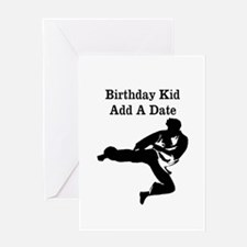 Martial Artist Greeting Card