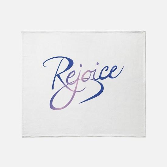 REJOICE Throw Blanket