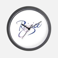 REJOICE Wall Clock