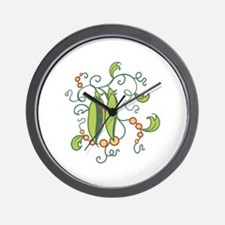 PEAS IN A POD Wall Clock