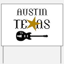 AUSTIN TEXAS MUSIC Yard Sign
