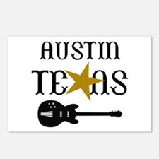 AUSTIN TEXAS MUSIC Postcards (Package of 8)