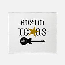 AUSTIN TEXAS MUSIC Throw Blanket