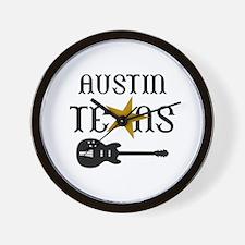 AUSTIN TEXAS MUSIC Wall Clock