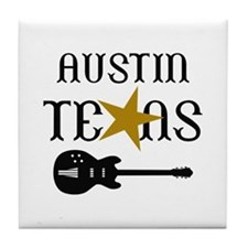 AUSTIN TEXAS MUSIC Tile Coaster