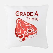 GRADE A PRIME BEEF Woven Throw Pillow