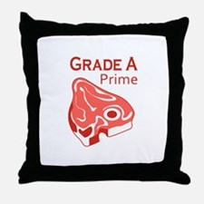GRADE A PRIME BEEF Throw Pillow