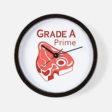 GRADE A PRIME BEEF Wall Clock