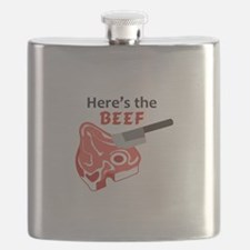 HERES THE BEEF Flask