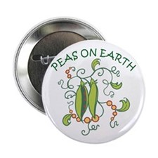 """PEAS ON EARTH 2.25"""" Button (10 pack)"""