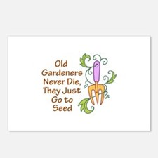 GARDENERS NEVER DIE Postcards (Package of 8)