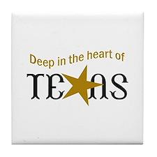 HEART OF TEXAS Tile Coaster