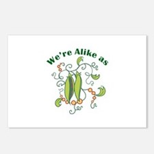 ALIKE AS PEAS Postcards (Package of 8)