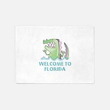WELCOME TO FLORIDA 5'x7'Area Rug