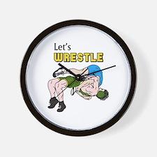 Let's Wrestle Wall Clock