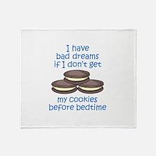 COOKIES BEFORE BEDTIME Throw Blanket