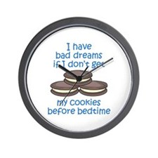 COOKIES BEFORE BEDTIME Wall Clock