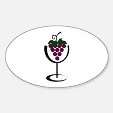 WINE GLASS GRAPES Decal