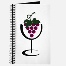 WINE GLASS GRAPES Journal