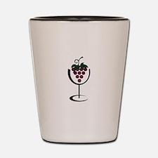 WINE GLASS GRAPES Shot Glass