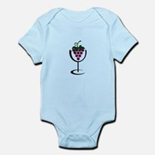 WINE GLASS GRAPES Body Suit