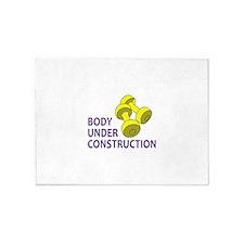 BODY UNDER CONSTRUCTION 5'x7'Area Rug