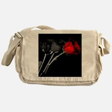 Can you turn my black roses red? Messenger Bag