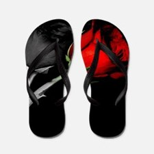 Can you turn my black roses red? Flip Flops