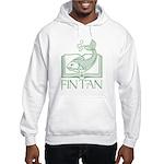 Fin Tan Green Hooded Sweatshirt